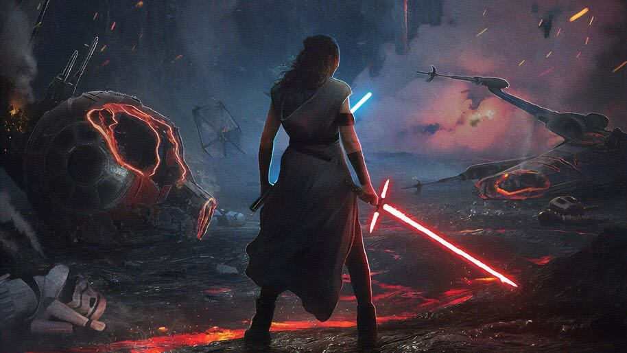Rey Lightsaber Star Wars The Rise Of Skywalker 4k Wallpaper