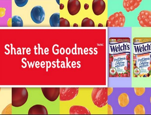 Welch's Share The Goodness Sweepstakes