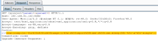 Exploiting Python Code Injection in Web Applications