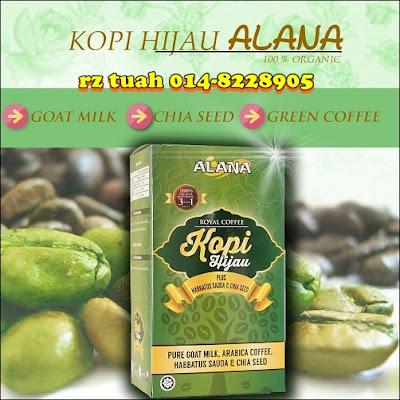 khasiat alana kopi hijau green coffee