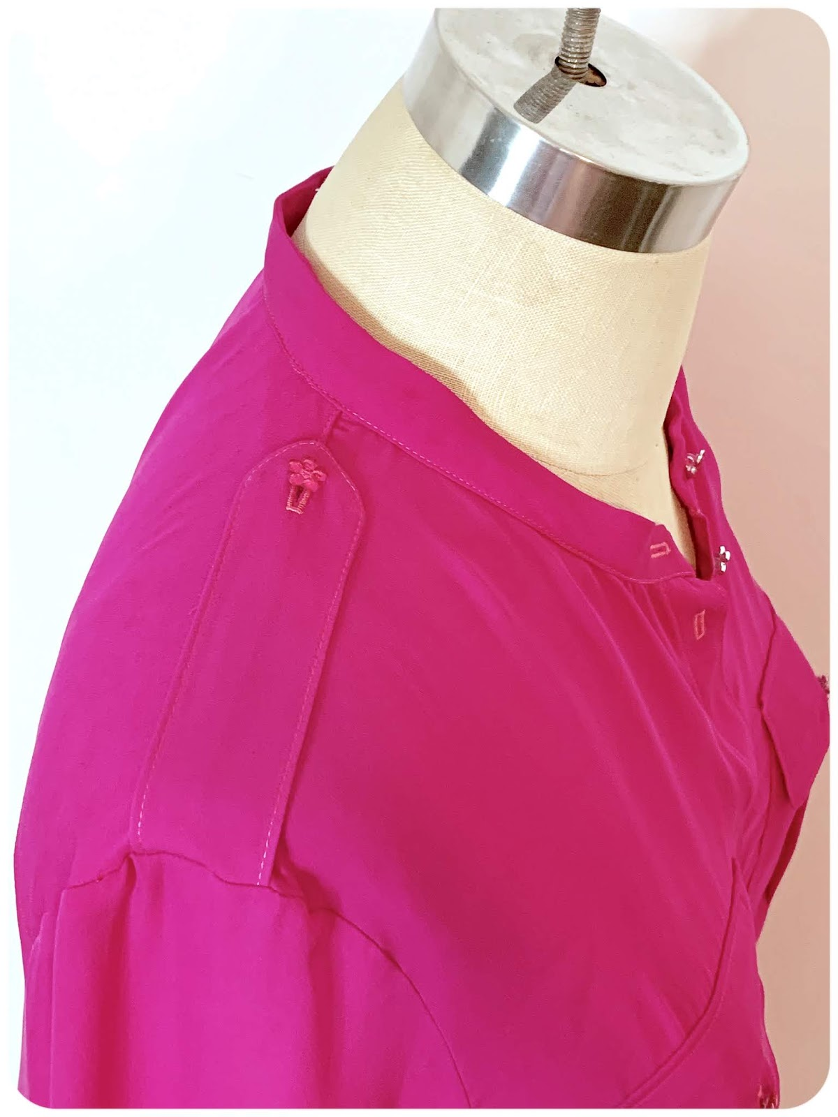Simplicity 8830 - Fuchsia Silk Double Georgette Shirt! -- Erica Bunker DIY Style!
