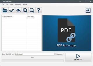 برنامج, PDF ,Anti-Copy, لتشفير, الكتب, الالكترونية