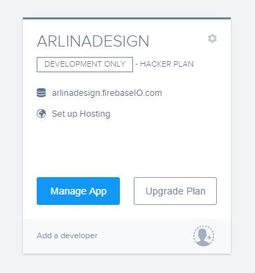 Manage Aplikasi Firebase