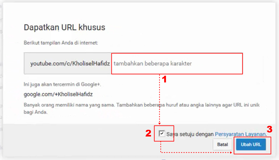 Cara Mengganti URL Channel Youtube