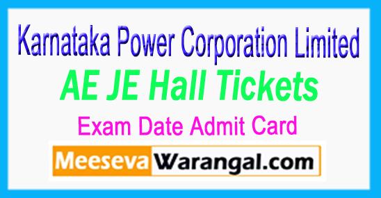 KPCL Karnataka Power Corporation Limited AE JE Hall Ticket Exam Date Admit Card 2017