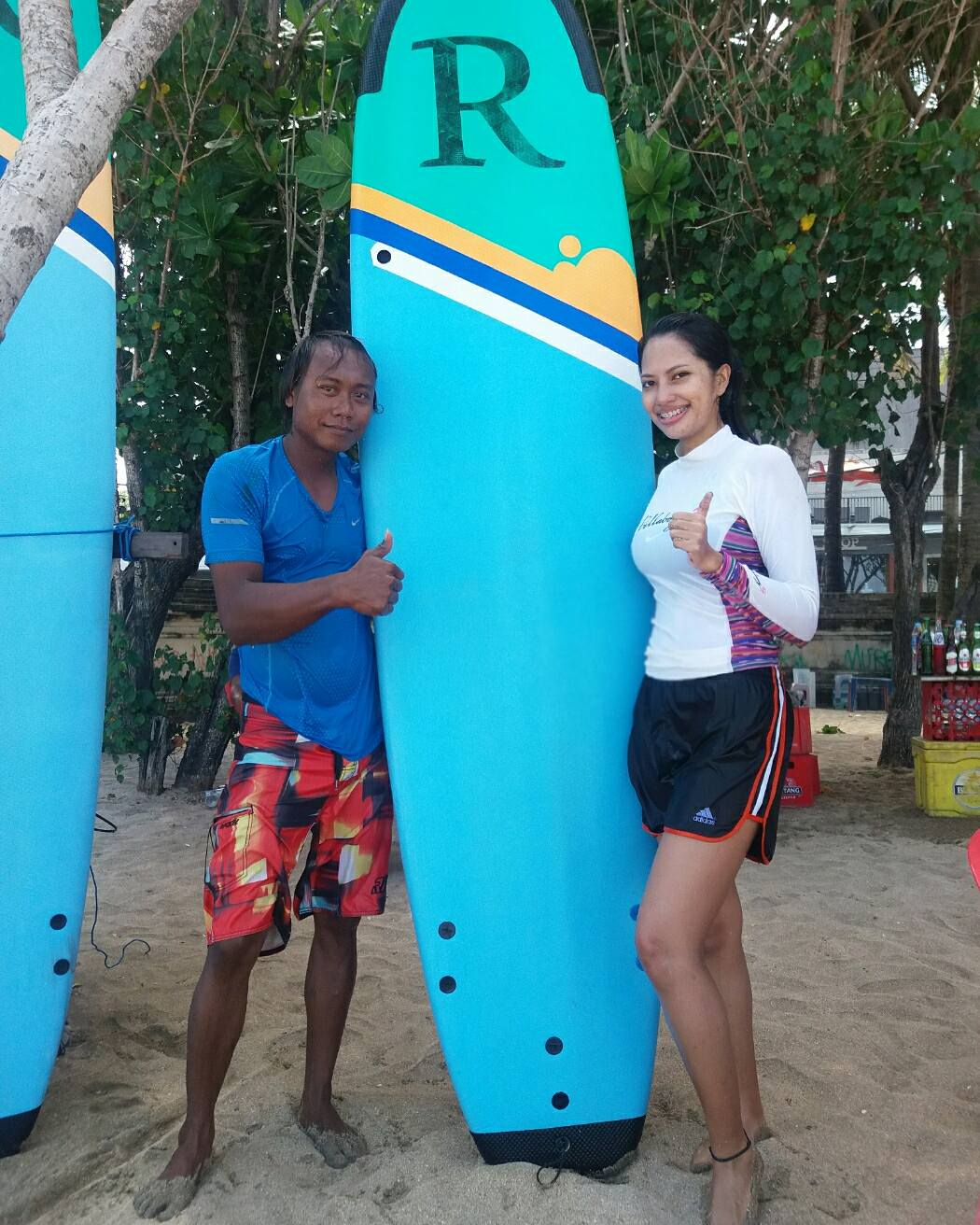 learning to surf in kuta bali