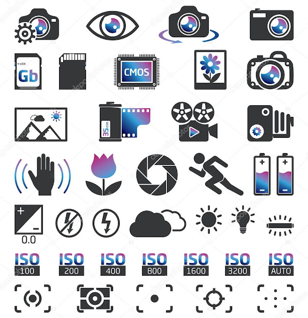 Camera Display Screen Symbols  Vector By Nevada