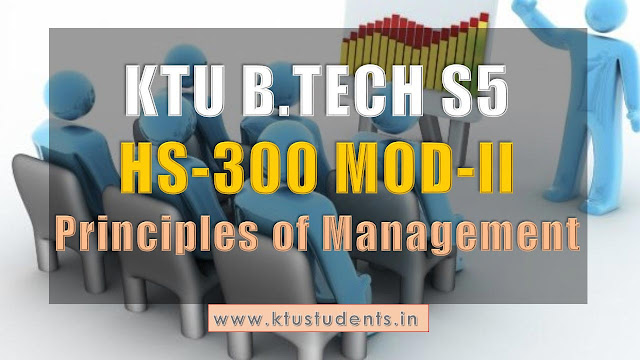 principles of managements s5 notes ktu