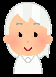 白い髪の女の子のイラスト
