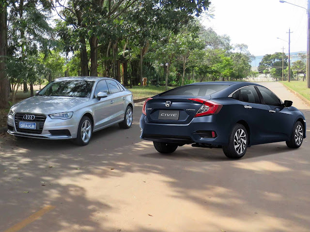Novo Honda Civic 2017 x Audi A3 Sedan