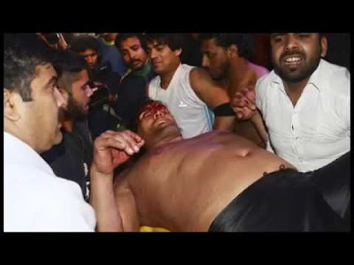 The Great Khali was taken in an ambulance to a hospital after he was injured during a wrestling duel at Haldwani, Uttarakhand, on Wednesday.  Quoting government sources, media reports said he was out of danger.  A former WWE wrestler, Khali was fighting a foreign-origin opponent in an exhibition match.