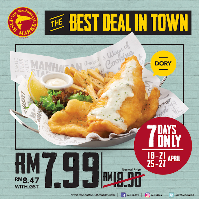 The Manhattan FISH MARKET - Best Deal in Town At Only RM 7.99 for Fish 'N' Chips!