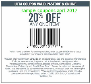 Ulta coupons april 2017