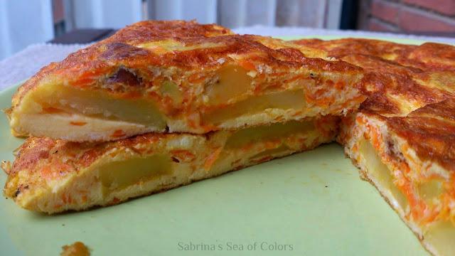 tortilla-de-patatas-con-chorizo-zanahoria