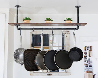 awesome eco-friendly 6th anniversary gift pot rack