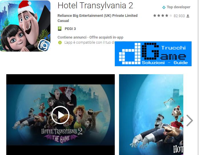 Trucchi Hotel Transylvania 2 Mod Apk Android