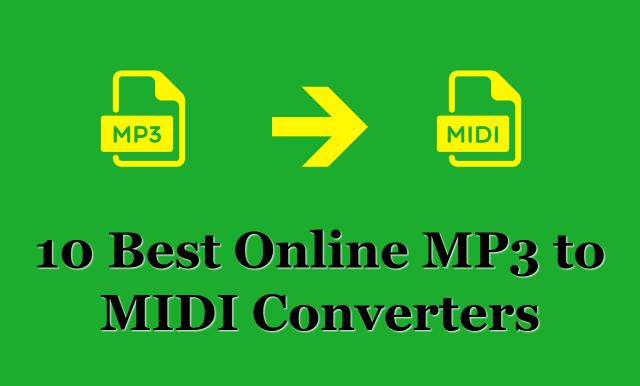 10 Best Online MP3 to MIDI Converters