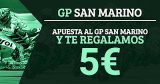 Paston 5 euros gratis apostando MotoGP San Marino 5-10 septiembre