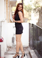 Actress and Model Ashwini in Beautiful Short Black Mini Dress ~  Exclusive 011.jpg