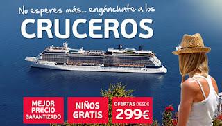 Cruceros baratos, economicos y low cost. Cruceros muy baratos y 2x1
