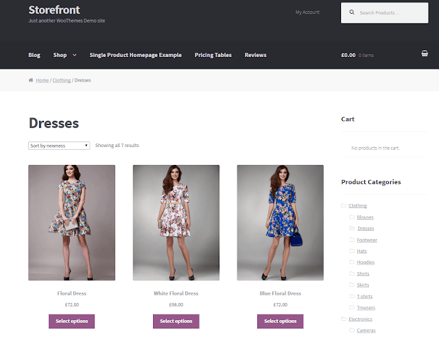 WordPress Ecommerce Themes Storefront Theme