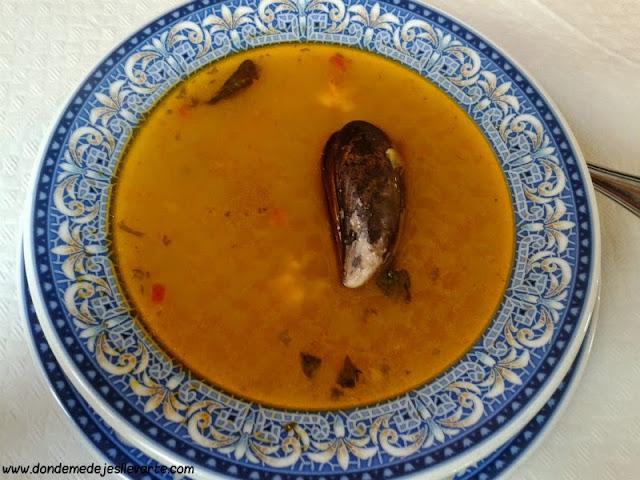 Sopa de marisco - Restaurante La Pandorga