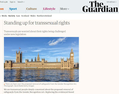 The Guardian letter 'Standing up for Trans Rights'