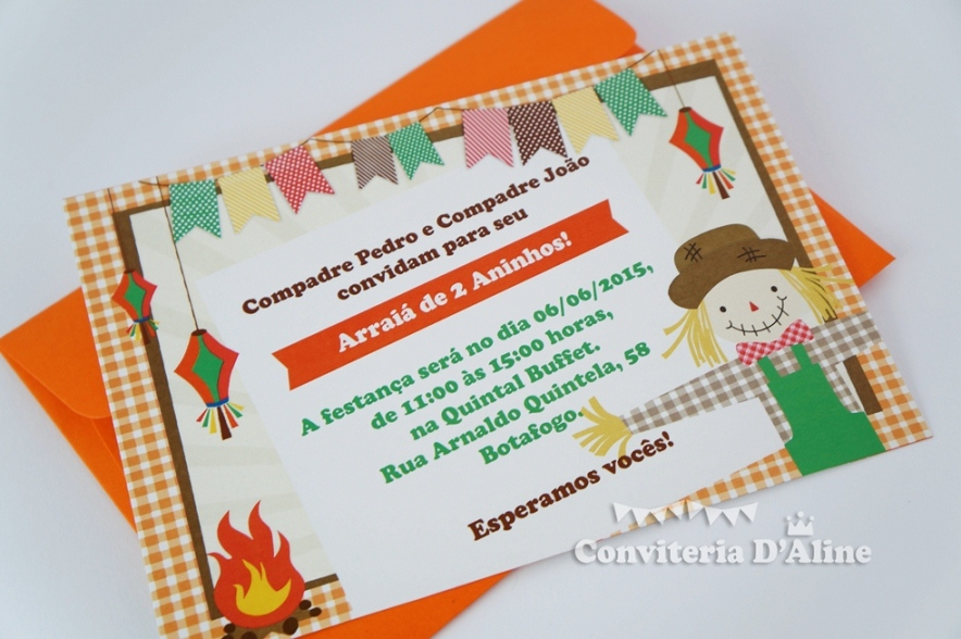 convite festa junina infantil