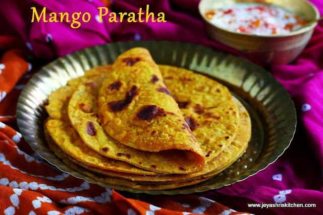 Mango parathas