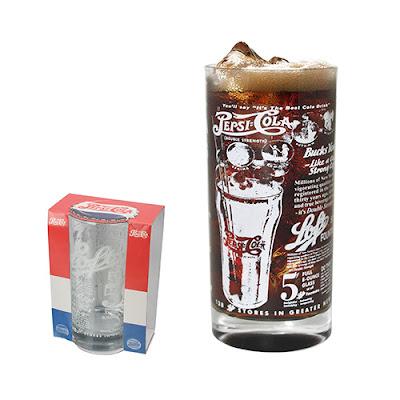 Copo de Vidro Retrô da Pepsi