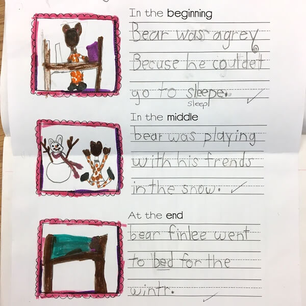 Story sequencing by 1st Grade students
