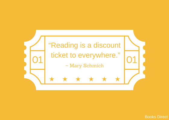 """Reading is a discount ticket to everywhere.""  ~ Mary Schmich"