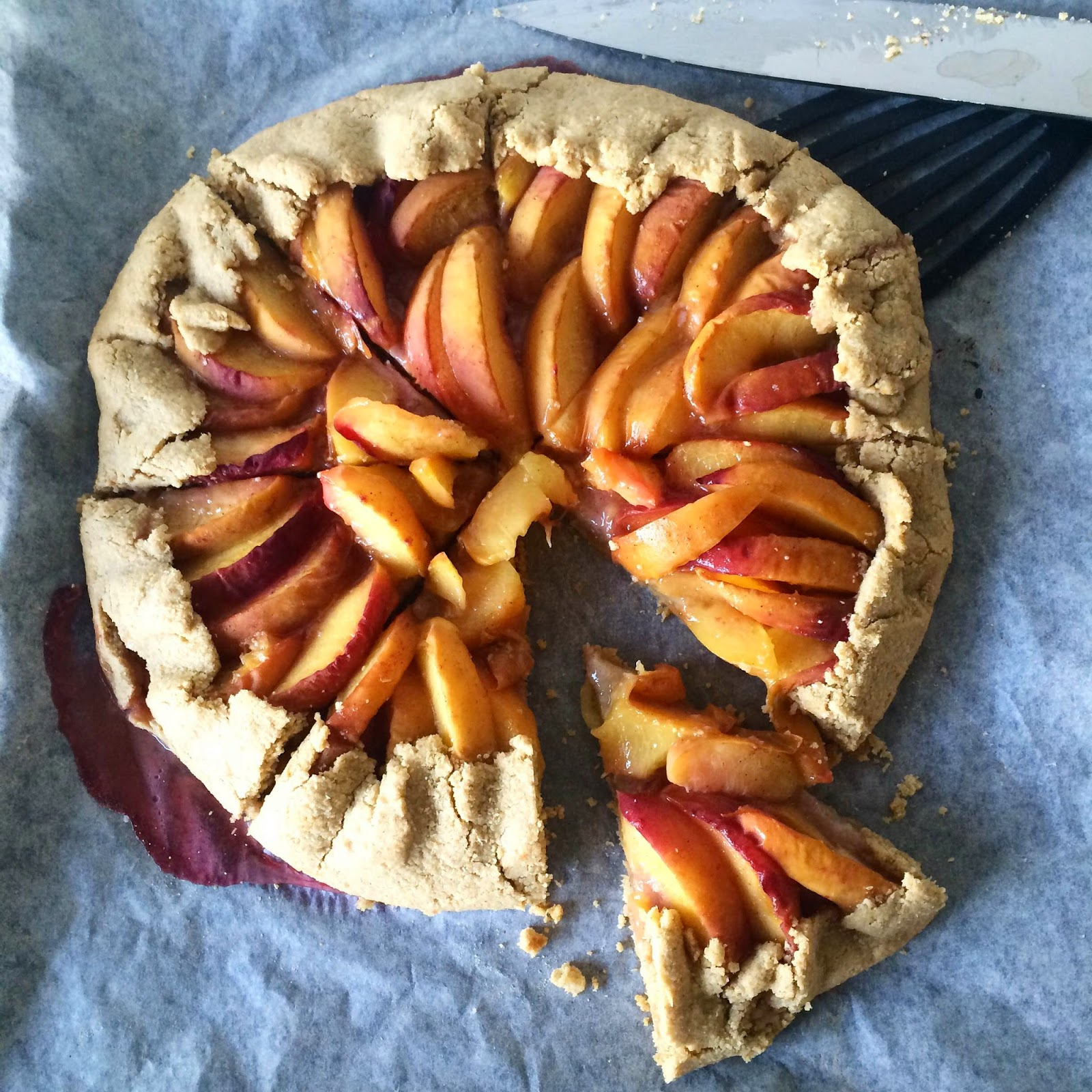 healthy clean peach galette