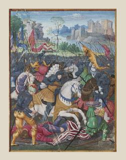 François Ier chargeant contre les mercenaires Suisses à la bataille de Marignan, 13-14 septembre 1515