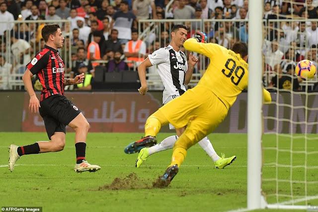 Ronaldo ghi bàn, Juventus vô địch Siêu cúp Italia 2