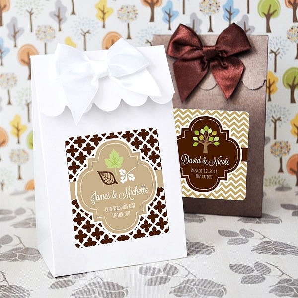 Personalized Food Favor Boxes