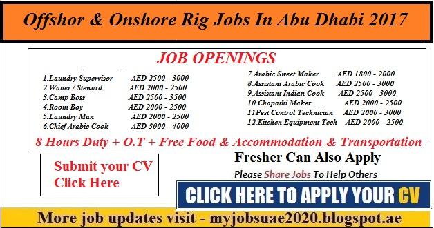 Offshore & Onshore Rig Jobs In Abu Dhabi 2017 - Myjobsuae