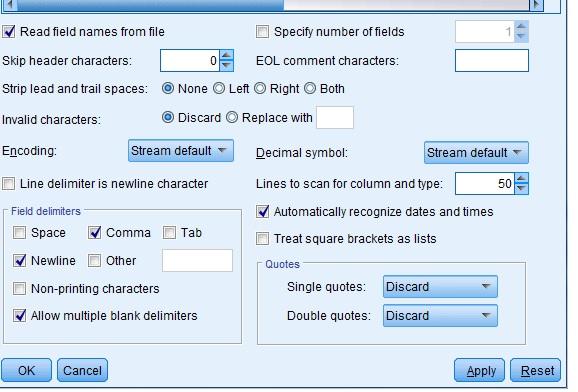 INSIGHT ON ANALYTICS: Using spss modeler- data type issues