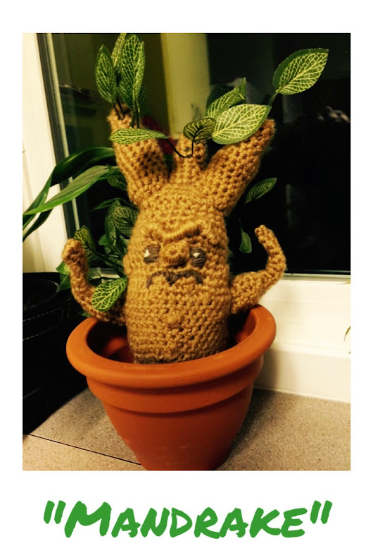 Mandrake Amigurumi - for all the Harry Potter lovers out there!!