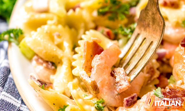 Bacon Shrimp Pasta Salad