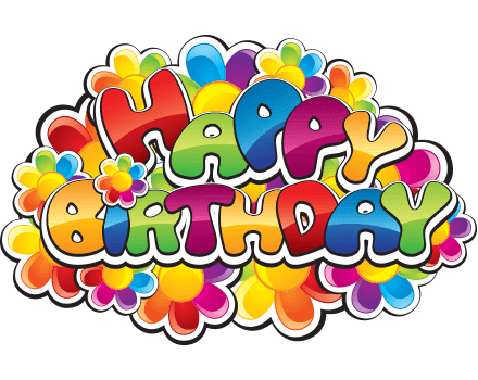 Colorful birthday sticker
