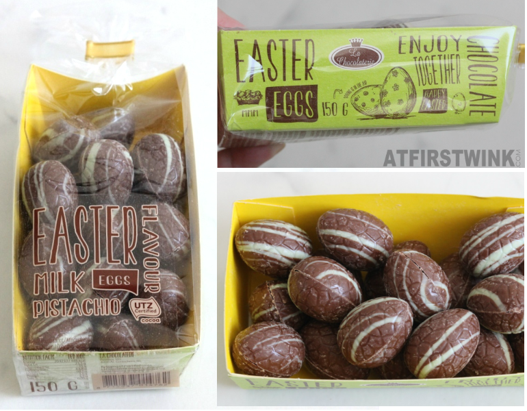 La chocolaterie chocolate egg pistachio 150 g €1.99 Action