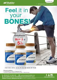 Promotion shaklee; shaklee promotion; ostematrix; pill kalsium shaklee; vitamin untuk tulang; shaklee sabah; shaklee sarawak