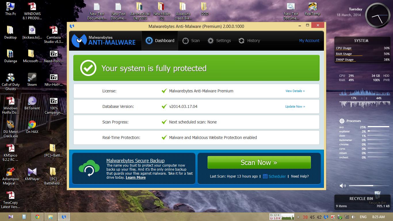 Malwarebytes Anti-Malware 2 0 premium + Keygen ~ Pc world