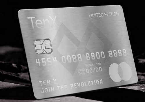 TenX Card To Debit Bitcoin For Real Life Payments