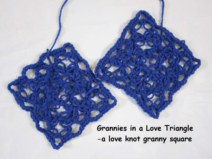 crochet, free pattern, love knot, granny square