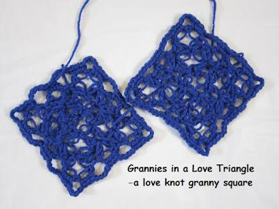 crochet, free pattern, love knot, granny square