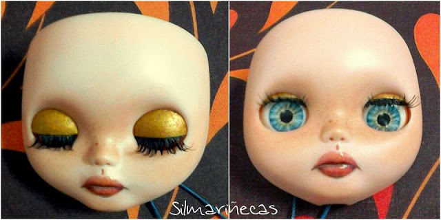 maquillar párpados de basaak doll - blythe