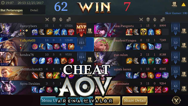 Cheat Arena Of Valor (Aov) Android Tanpa Root