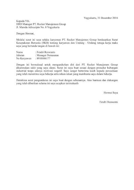 Hoc Tieng Contoh Surat Pengunduran Diri Pt Alfamart